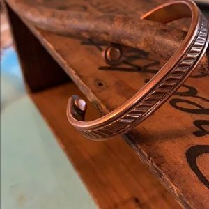 Vintage copper magnetic bracelet